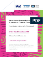 Segunda Circular Congreso de Estudios Poscoloniales