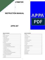 APPA 207 Manual
