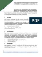 Procedimiento Mantenimiento Preventivo, Correctivo y Calibraqcion de Equipos