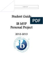 My p Personal Project Student Guide