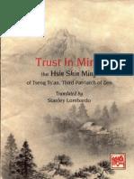Trust in Mind Hsin / Shin Ming Sml