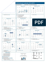 instructional calendar 2014-2015