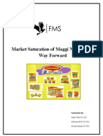 Market Saturation of Maggie Noodles and Way Forward
