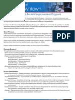 Downtown Facade Improvement Program