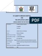 st alberts mission hospital  2012 annual report
