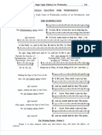 Medieval Monastic Psalter, Volume 1, Wednesday Divine Office