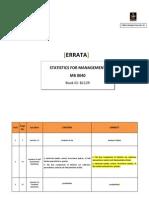 ERRATA Statistics for Management