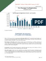 New Passenger Car Registrations Europe in 2013