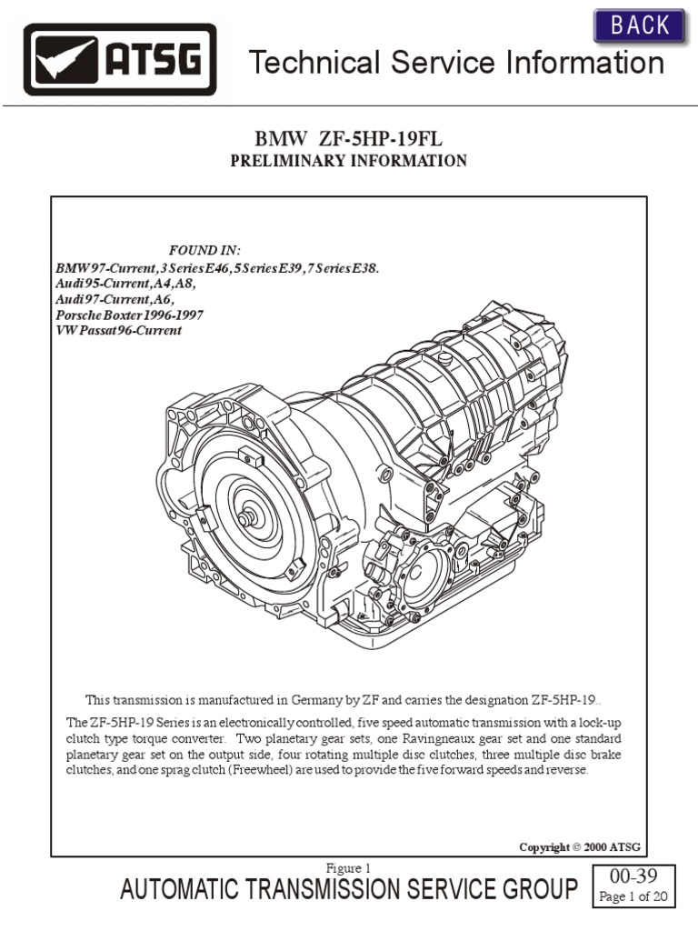 ZF 5HP19 Technical Service Information   Automatic Transmission    Transmission (Mechanics)