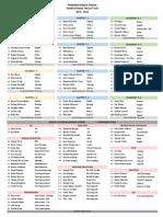 Cluster List 2014-15