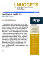NUPA Nuggets Newsletter August 2014
