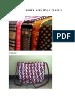 Contoh Produk Kerajinan Tekstil