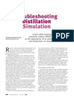 Troubleshooting Distillation Simulation