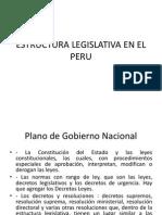ESTRUCTURA LEGISLATIVA EN EL PERU