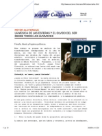 PETER SLOTERDIJK; LA MÚSICA DE LAS ESFERAS Y EL OLVIDO DEL SER DESDE TODOS LOS ALTAVOCES.  Dr. ADOLFO VÁSQUEZ ROCCA