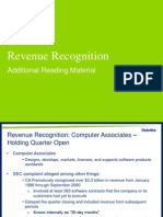 Revenue Recognition Examples