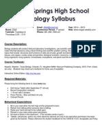 biology syllabus 2014