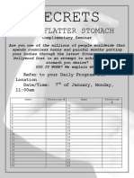 Secrets to a Flatter Stomach - Sign Up
