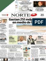 Periódico Norte edición del día 24 de agosto de 2014