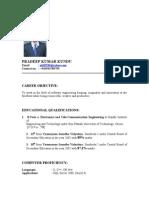 Pradeep's Resume