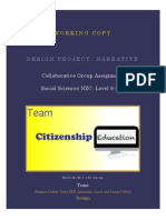 design project-citizenship education narrative