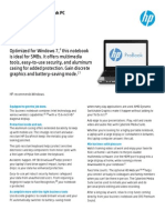 Americas English HP ProBook 4540s Datasheet June 2013