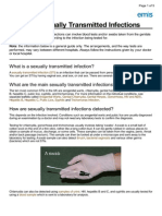 Tests for Sexually Transmitted Infections