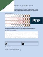 Probability Problems With a Standard Deck of 52 CardsByLeonardoDVillamil