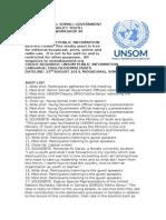 Somali Government and Unsom Conduct Youth Sensitization Workshop in Mogadishu