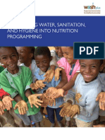 Integrating Water, Sanitation, and Hygiene into Nutrition Programming