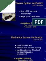 Mechanical System Verification