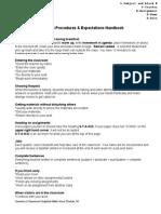 classroom procedures  expectations handbook