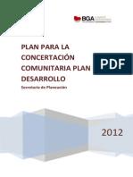PLAN PARA LA CONCERTACION COMUNITARIA DEL PLAN DE DESARROLLO.pdf