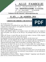 Lettera alle Famiglie - 24 agosto 2014