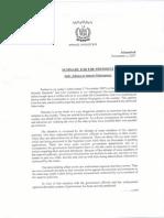 Shaukat Aziz 2007 Letter