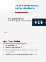 Productivity and Performance Management for Academia