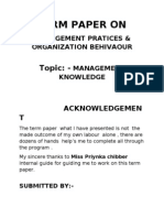 Term Paper On MPOB