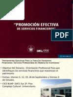 Promoción Efectiva de Servicios Financieroa