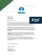 Compensation Letter
