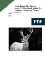 Hunter Demand for Deer on Prince of Wales Island