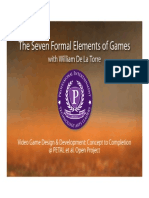 The Seven Formal Elements of Games with William De La Torre