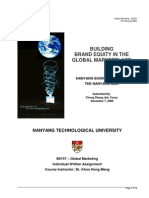Building Brand Equity in the Global Marketplace (Global Marketing Context)