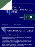Modul 5 Model Transportasi 2007