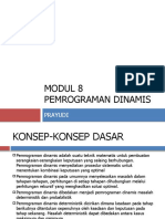 Modul 8 Pemrograman Dinamis