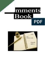 PYP Exhibition - Comments Book
