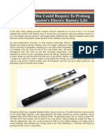 7 Activities You Could Require to Prolong your E cigarette's Electric Battery Life