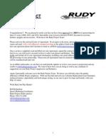 Rudy Triathlon Contract 2009