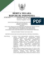 PERATURAN MENTERI HUKUM DAN HAK ASASI MANUSIA REPUBLIK INDONESIA NOMOR 4 TAHUN 2014