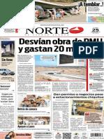 Periódico Norte edición del día 25 de agosto de 2014