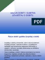 17. Racun Dobiti i Gubitka Izvjestaj o Dobiti -Novo 2012